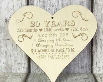 Anniversary gift, engagement gift, anniversary present, 20th anniversary