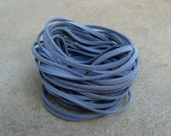 20Yds (1,800cm or 60Ft)- Denim Blue Faux Suede Cord, Lace (FS3-14135)