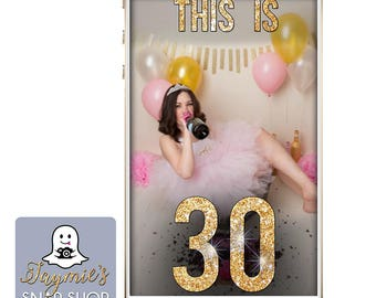 This Is 30 SnapChat Filter - Birthday SnapChat Geofilter