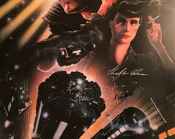 Blade runner signed movie poster