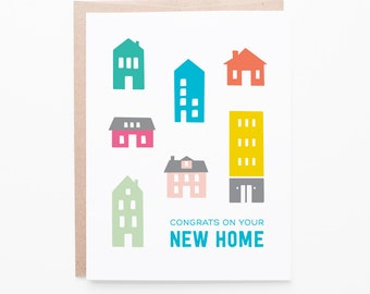 New Home Greeting Card | First Home Congratulations | Houses + Home Buying | Realtor Thank You