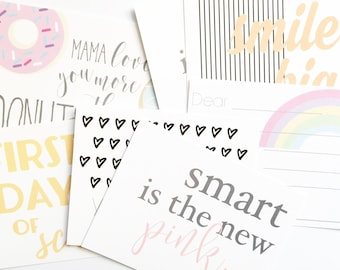 Lunch Box Notes | 14 cards | Girl | Back to School | mama notes