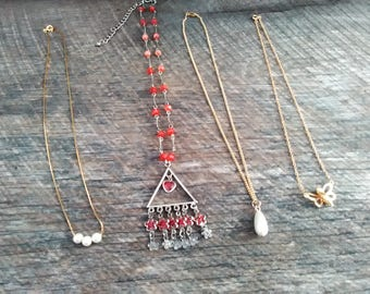 Lot of 4 Different Styles Young Girl Necklaces, Inv.#186