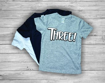 3rd Birthday Shirt Boy, 3 birthday shirt , Three Birthday shirt, Birthday Boy, Third Birthday Shirts, 3 year old Birthday, 3 year old