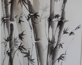 Bamboo ink on paper