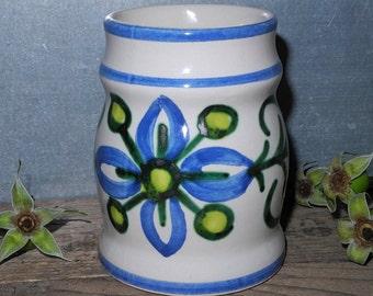 Ulmer ceramic vase, blue green