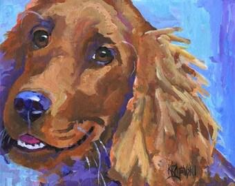 Irish Setter Art Print of Original Acrylic Painting - 11x14 Dog Art