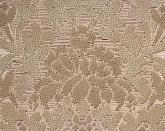 1920s Antique Vintage Wallpaper Brown Floral Damask by the Yard