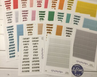 Monthly Date Stickers for the UNDATED Compact and Classic sized Passion Planners ( Entire Years Worth)
