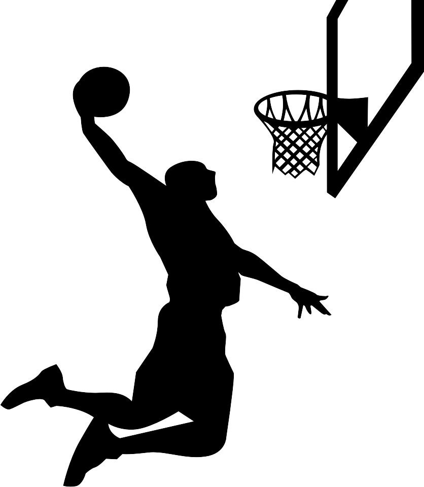 Basketball Player Silhouette Wall Decal Vinyl Wall Art
