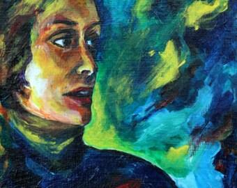 Original acrylic painting, October 2014