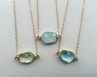 y accented layered collection necklace round semi precious jet shaped products skm