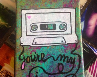You're My Jam CUSTOM 5x7 mixtape painting