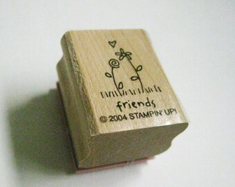 Friends Flowers Quotation Papercraft Stamp Stampin Up Rubber Stamp Wood Mount Craft Card Making Journal Planner DIY Stamping  Craft Stamp