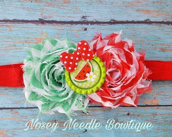 Watermelon hair bow, Watermelon headband, Watermelon hair clip, Watermelon decorations, Watermelon outfit, Watermelon Birthday, Watermelon