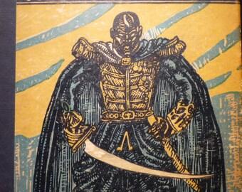 Black Majesty - Beautiful art print - 8 by 10 print wall art poster Black Panther 1930 - Black Lives Matter- King of Haiti