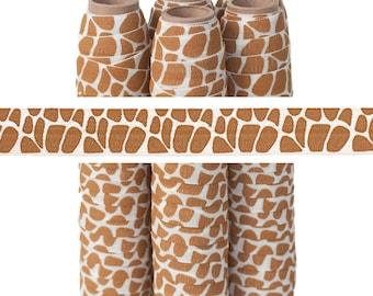 "Giraffe Print - Fold Over Elastic - 5/8"" - 5 YARDS"