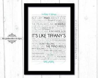 Breakfast at Tiffany's - Quotes Typography - PRINT