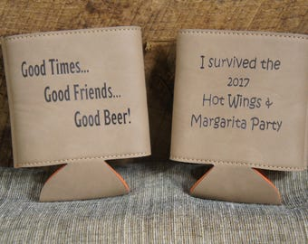 Laser Engraved Personalized Faux Leather Checkbook Cover