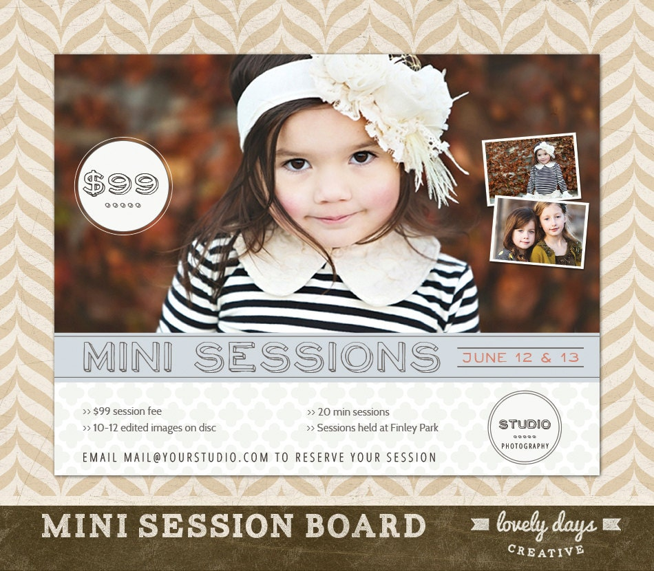 photography mini session template board flyer ad for. Black Bedroom Furniture Sets. Home Design Ideas