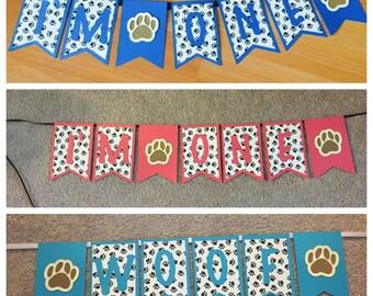Dog's birthday banner