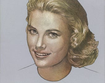 Grace Kelly Portrait - Original Art