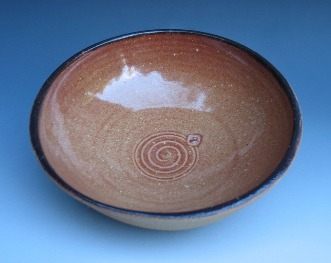 Serving Bowl with Iron Red Rim