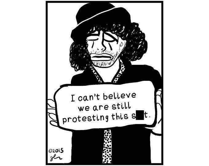 Art Punk Shirts Punk Shirt Print DIY Sad Clown Truth Protester Protesting Political Crust Punk Anarchy Anarchist Humanity Shirt