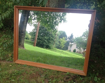 Large Vintage Mirror, Wood Frame Mirror, Paint to Order, Custom Painted, Oversized Mirror, Farm House, Mantel Mirror, Hall Mirror, Bathroom
