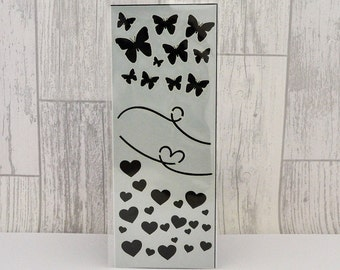 Butterfly and Heart (80x210mm) Stencil/Mask by Imagine Design Create
