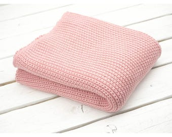 Blanket Baby,Knitted Blanket,Pink Blanket,Knit Baby,pinkBaby,Cotton Baby,Baby girl, Baby cover,Pink Knitted Blanket, Pink Crib,Knnited cover