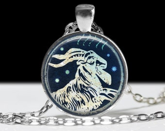 Capricorn Jewelry Zodiac Necklace Wearable Art Pendant
