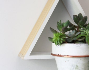 Triangle Wall Mount Plant Holder // Modern Wall Decor // Triangle Plant Holder, modern decor, home and garden, unexpected planter, gift idea