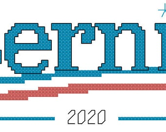 Bernie for President cross stitch pattern
