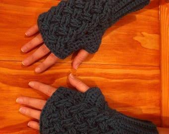 Celtic Weave Fingerless Gloves