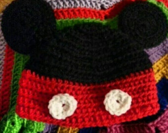 Crocheted Mickey Mouse Hat
