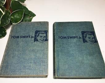 Vintage Set of Two 1950s Tom Swift Jr. Adventures Books