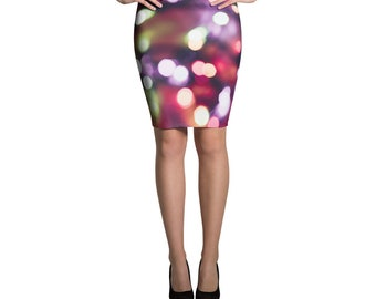 Colorful Dazzle Pencil Skirt