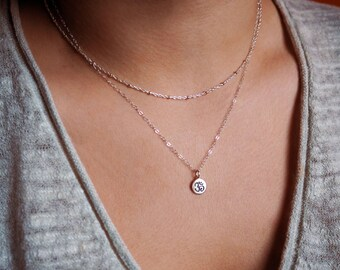Sterling Silver Om Necklace, Yoga Necklace, Gift for Her