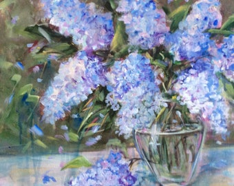 Lilacs Painting Original Oil Floral Painting 18 x 24""