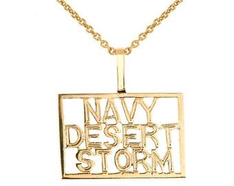 DESERT STORM Necklace Desert Storm Veteran Necklace Navy Necklace