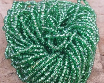 15% Off Light Green Size 10 ROCAILLE Seed Beads by Seed Bead World