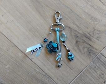 Jewelry bag (Keychain) turquoise beads