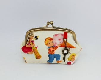 Michael Miller Sweet Treats Kisslock Purse with Charms