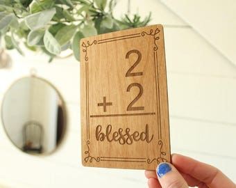 Family Addition Sign | Farmhouse Sign | Addition Flashcard Sign | Family Size Sign | Blessed Family Sign | Gifts Under 10 | Free Shipping