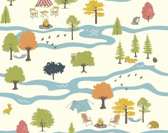 Campout Main, Camp Sur 3 Collection, Jay-Cyn Designs, Birch Fabrics, Organic Quilting Cotton