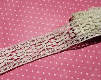 Antique Lace Vintage Lace Trim Cotton Bobbin Lace Cluny Insertion Lace