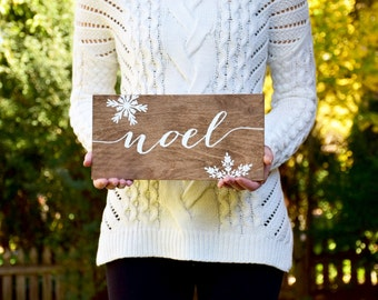 Christmas Signs Noel - Christmas Sign - Wood Sign - Wood