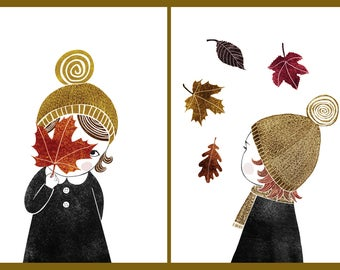 Autumn Girl | Set of 2 prints