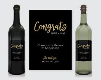 Engagement Wine Bottle Label